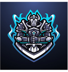 Guardian knight esport mascot logo vector