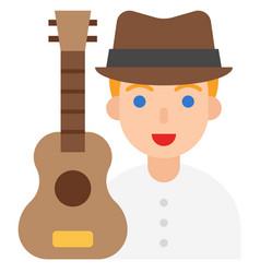 Guitarist icon profession and job vector
