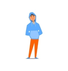 Guy In Hoody vector