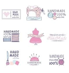 Handmade badges set vector image
