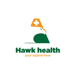 hawk health logo designs vector image