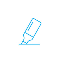 highlighter linear icon concept highlighter line vector image