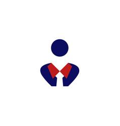 human agency employment creative business logo vector image