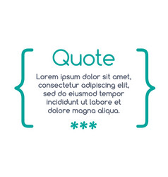 Innovative quotation template in quotes creative vector