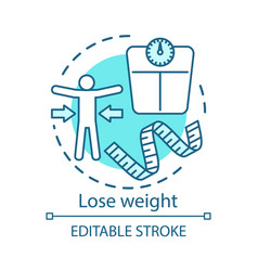 lose weight healthy lifestyle concept icon vector image