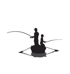 Men fishing cartoon vector image