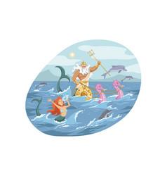 Mythology greece olympus god neptune religion vector