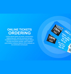 Online cinema internet streaming web banners web vector