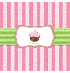 Pastel Vintage Cupcake Background vector