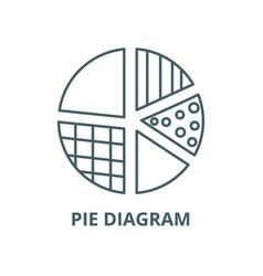 pie diagram line icon linear concept vector image