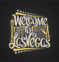 poster for las vegas vector image