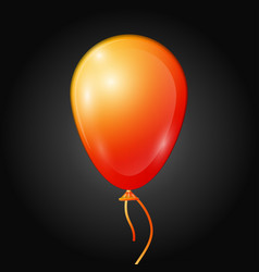 Realistic orange balloon with ribbon isolated vector