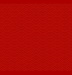 red traditional seamless chinese pattern vector image