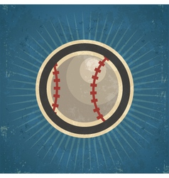 Retro Baseball vector
