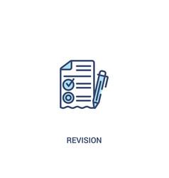Revision concept 2 colored icon simple line vector