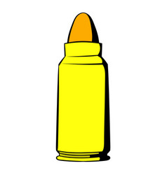 rifle bullet icon icon cartoon vector image