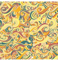 Set of wave patterns Seamless pattern can be used vector image