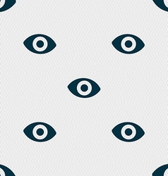 Sixth sense the eye icon sign Seamless pattern vector