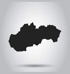slovakia map black icon on white background vector image