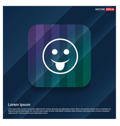 smiley icon face icon vector image