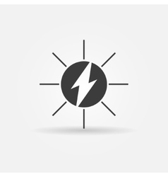 Solar energy black icon vector
