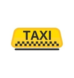 taxi car roicon vector image