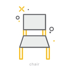 Thin line icons Chair vector