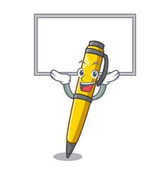 Up board pen shape that on a cartoon vector
