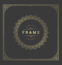 vintage flourishes ornament frame template vector image