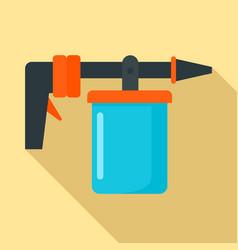 Wash car spray icon flat style vector
