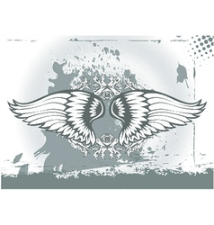 wings with floral vector image