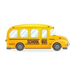 Yellow school bus vector