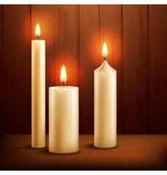 Candles realistic background vector image vector image