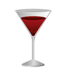 colorful silhouette of drink cocktail glass vector image