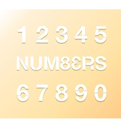 paper numbers vector image vector image