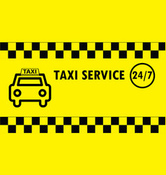 taxi business card vector image