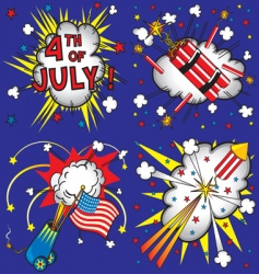 4th of july explosions vector image vector image