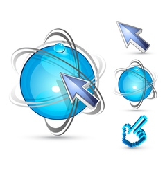 arrows and balls vector image vector image