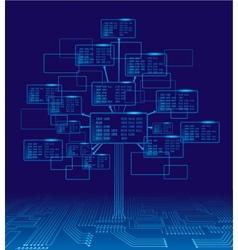 Binary tree vector image
