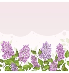 Floral card with lilacs on lilac background vector