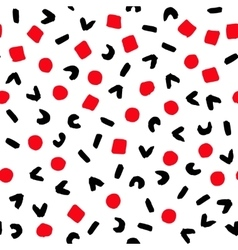 Geometric Pattern Painted Red Black White vector image