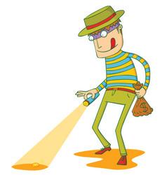 greedy thief vector image vector image