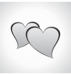 Hearts speech bubble vector image vector image