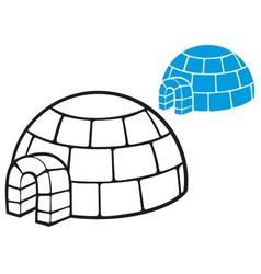 igloo vector image