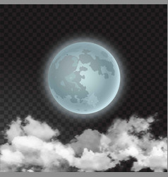Moon skyscape with vector