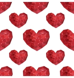 Seamless pattern with geometric hearts of vector image vector image