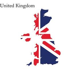 Uk map flag vector