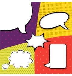 Comic Pop art template set vector image