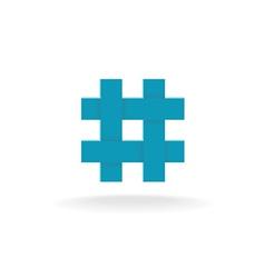 Hashtag symbol vector image