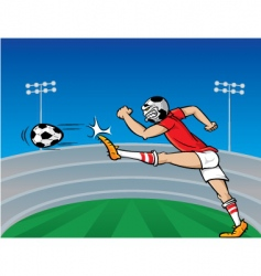 soccer player cartoon vector image vector image
